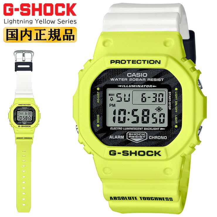 腕時計, メンズ腕時計  G 5600 DW-5600TGA-9JF CASIO ORIGIN G-SHOCK Lightning Yellow Series DW5600TGA9JF