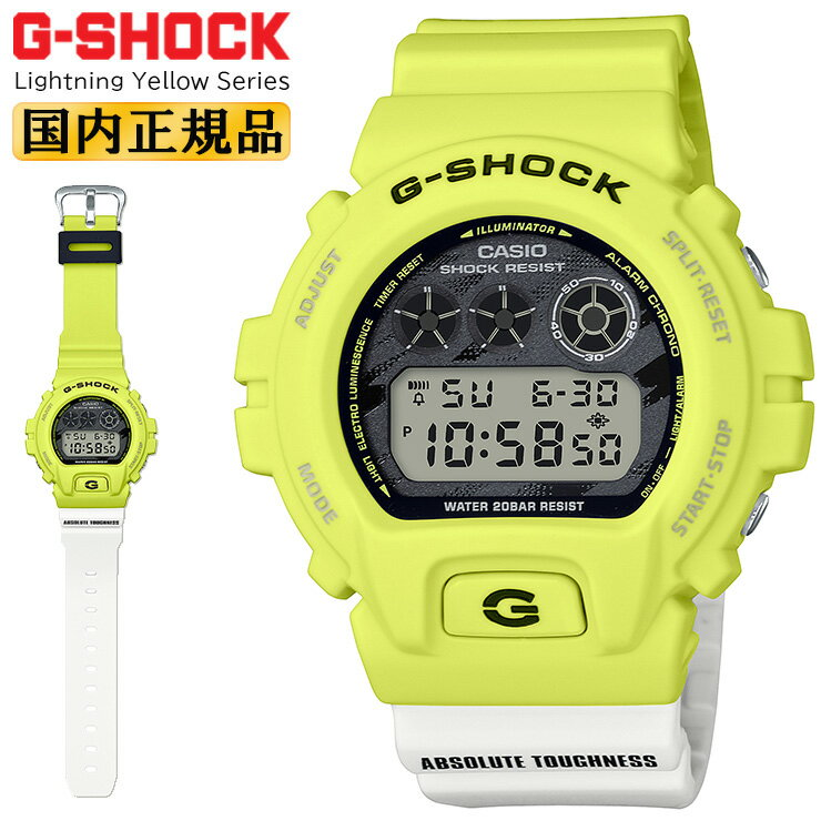 腕時計, メンズ腕時計  G DW-6900TGA-9JF CASIO G-SHOCK Lightning Yellow Series DW6900TGA9JF