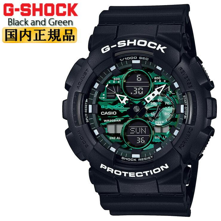 腕時計, メンズ腕時計  G GA-140MG-1AJF CASIO G-SHOCK Black and Green GA140MG1AJF