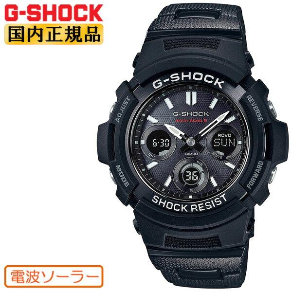 正規品AWG-M100SBC-1AJFG-SHOCK電波ソーラーGショックCASIOカシオ電波時計デジタル×アナログコンビメタル