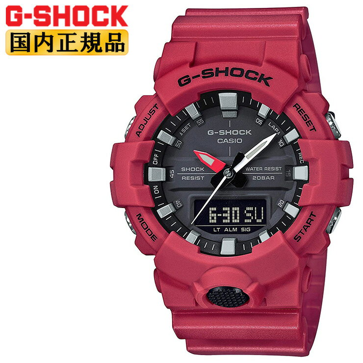CASIO G-SHOCK Red watch G-SHOCK GA-800-4AJF CASI...
