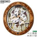 セイコー SEIKO RE580B 電波 掛 時計 象嵌 からくり 木枠 メロディ 音量調節 自動鳴止 スイープ おやすみ秒針 【30%OFF】【お取り寄せ】 【02P03Dec16】 【RCP】