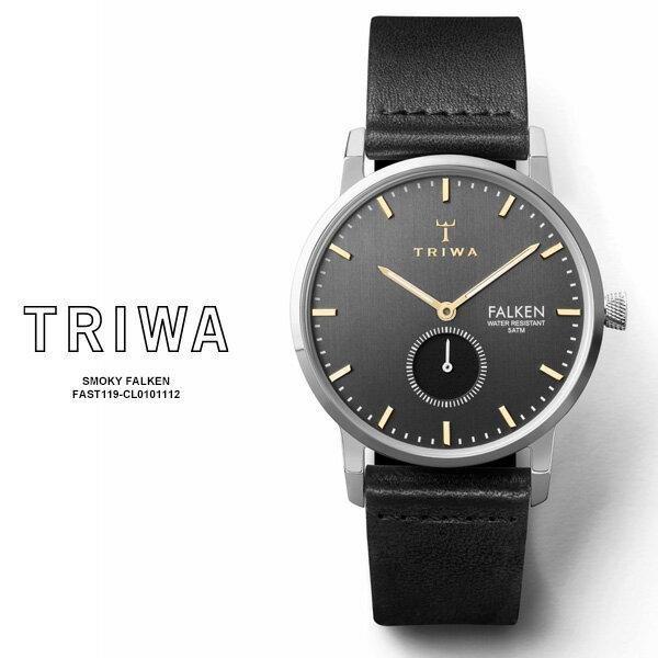 腕時計, 男女兼用腕時計 TRIWA SMOKY FALKEN FAST119-CL010112 38mm