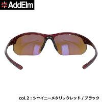 AddElmアドエルムADS5000ブラックレッドメンズゴルフ用UVカット紫外線カットハイコントラストレンズスポーツサングラス