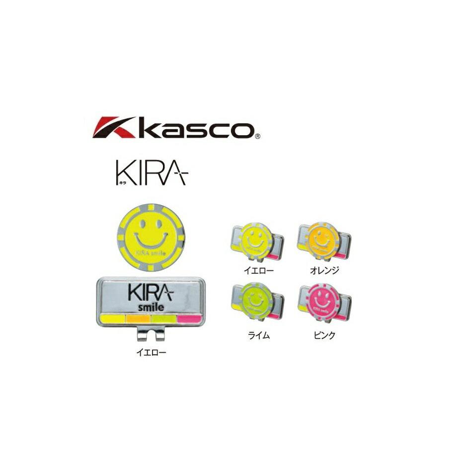 【メール便配送】 キャスコ ゴルフ キラ スマイル クリップ&マーカー KIRA Smile KICM-06
