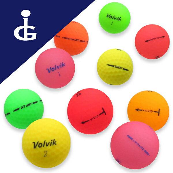【送料無料】Volvik VIVIDカラー色々Mix★★ランク/2ダースロストボール ゴルフボール【中古】画像