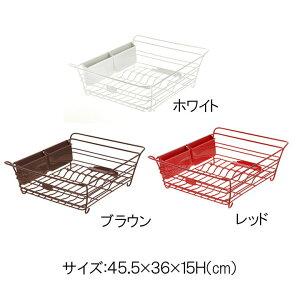 キッチン収納リッチェル抗菌加工ラクール「ドレイナーL」【IT】カラー:レッド(#9804641)、ホワイト(#9804642)、ブラウン(#9804643)Lacourキッチンまな板カトラリー