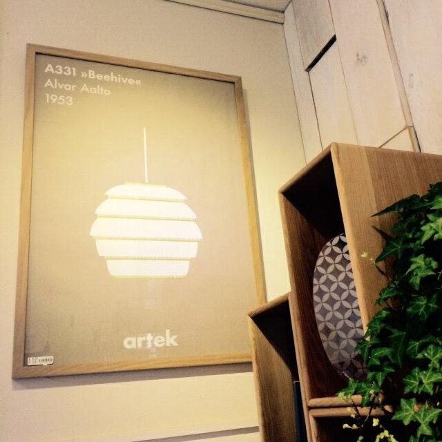 【artek(アルテック)】アイコン ポスター Beehive 北欧