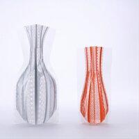 【D-BROS】フラワーベースレースストライプ(2サイズ2枚入り)花瓶ネコポス便(378円)利用可