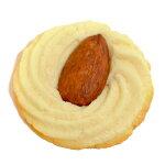 搾り出しクッキー・アーモンドトッピングの食品サンプルばら売り1枚