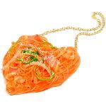 【送料無料】ナポリタンのネックレス【本物そっくり食品サンプルアクセサリーパスタモチーフユニークなプレゼントに】