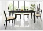 ダイニングセット食卓4人用ダイニング5点セットダイニングテーブル幅120〜165cm&チェア4脚セットエクステンションタイプチェア完成品2色対応