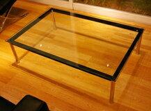 コルビジェ ガラステーブル LC10 センターテーブル,デザイナーズ テーブル コーヒーテーブル リビングテーブル,デザイナーズ・リプロダクト 幅120cm×奥行80cm:いいものいっぱい家具屋姫