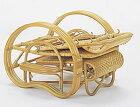 高級ラタンデッキチェア籐製リラックスチェアリクライニングチェア折畳みチェアお昼寝チェア籐製チェア折りたたみ式ナチュラル