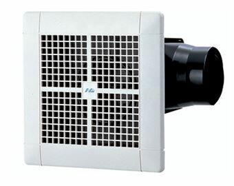 日本電興【NTV-150S】ダクト用換気扇 接続パイプφ100mm 埋込寸法205mm角