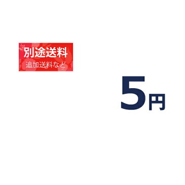 『5円分の別途追加料金』追加料金等の別途追加料金専用ページ【5円】