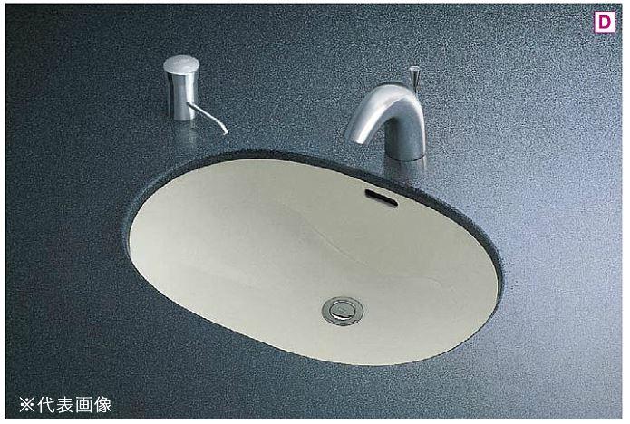 ###TOTO カウンター式洗面器 セット品番【L546U+TENA41A】楕円形洗面器 アンダーカウンター式 台付自動水栓(単水栓) 壁排水金具(Pトラップ):あいあいショップさくら