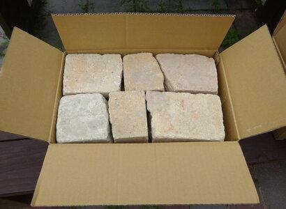 アンティーク割れレンガベビーピンク約1/5平米(20〜22kg)送料込みセット(北海道は300円アップ)