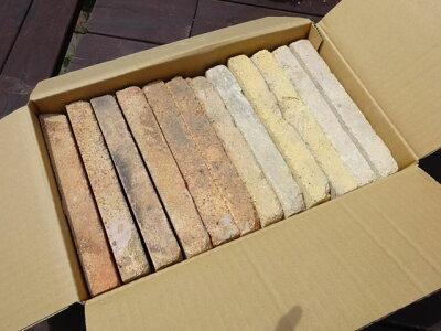 アンティーク耐火煉瓦スライス16枚●送料込みセット●