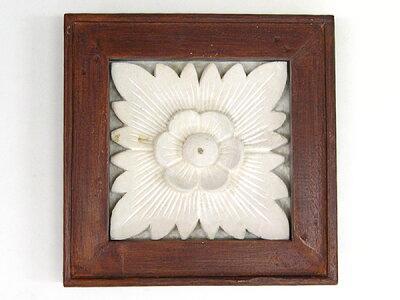 花のレリーフストーンカーヴィングM