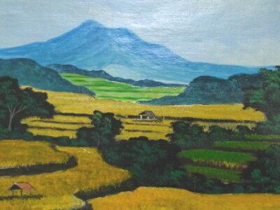 鮮やかなバリ絵画バリの村より