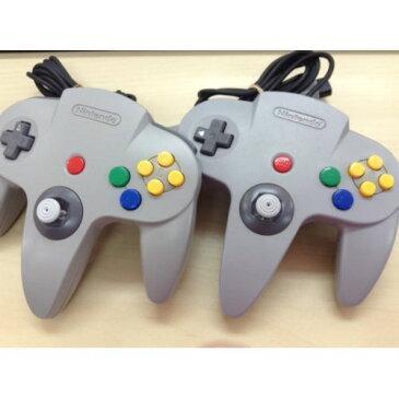 64 ゲーム コントローラ グレー 2個セット 任天堂64 ニンテンドー64 NINTENDO64 中古 4902370502534 送料無料