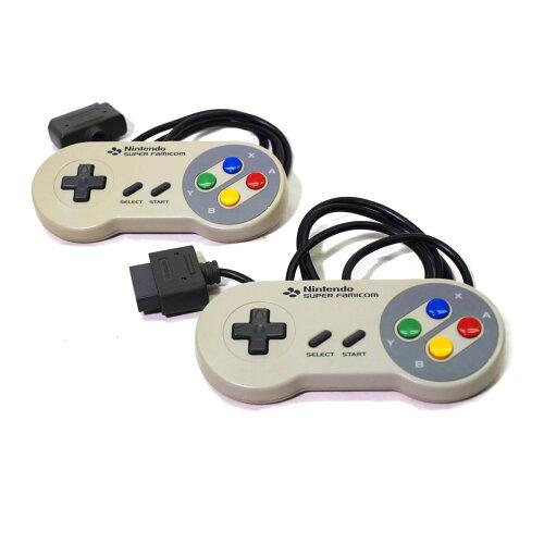 【送料無料】【中古】SFCスーパーファミコンコントローラー2個付き本体すぐ遊べるセット4902370501148