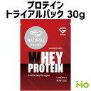 GronG(グロング) ホエイプロテイン100 ベーシック トライアルパック 人工甘味料・香料無添加 ナチュラル 30g