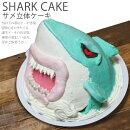 サメケーキ5号ギフト誕生日お菓子おもしろシャーク鮫バースデーケーキ3D立体ケーキパーティ送料無料