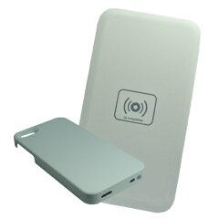 置くだけで充電可能!iPhone5に対応してます!【送料無料】 「 Qi チー 」 規格 充電器セット i...