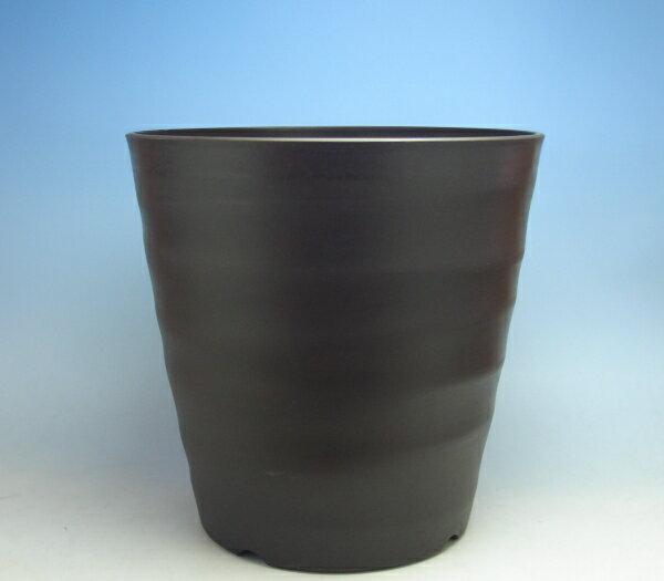 人気のフレグラーポット素焼きのようなデザイン10号 ダークブラウン【鉢花】【観葉植物】【果樹】【花木】【植木鉢】【プラ鉢】
