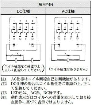【楽天市場】OMRON(オムロン)ミニパワーリレー品番:MY4N AC200/220 ...