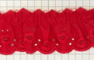 フリルレース 色 T50007 (巾約3.2cm)