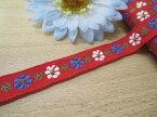 ☆NEW☆特価チロルテープ赤花柄1(巾約1.2cm)