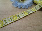 ☆NEW☆特価チロルテープ黄色花柄2(巾約1.2cm)
