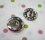 スナップボタン21ミリ白(シルバー・ニッケル)(1個バラ売り)