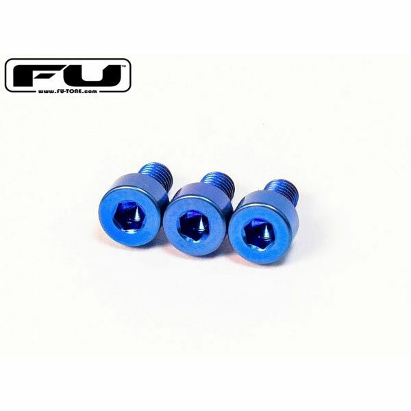 ギター用アクセサリー・パーツ, ペグ FU-Tone Titanium Nut Clamping Screw Set (3) BLUE