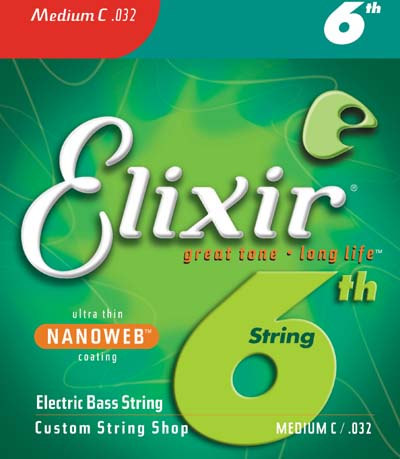 ELIXIR Bass Strings with ultra-thin NANOWEB Coating 6th High-C #15332