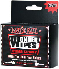 【メンテナンス・グッズ】ERNIE BALL STRING CLEANER 6-PACK [4277]