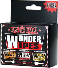 【メンテナンス・グッズ】ERNIE BALL WONDER WIPES COMBO 6-PACK [4279]
