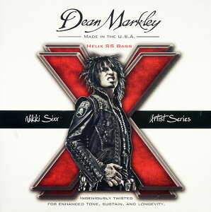 【エレキベース弦】DEAN MARKLEY NIKKI SIXX STRINGS HELIX SS Bass 2620 50-110