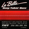 LaBella 750T White Nylon Tape Wound Bass Strings [4弦用/ホワイトナイロン弦]