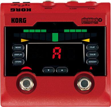 【チューナー】KORG pitchblack+ (RD) [CHROMATIC TUNER] 【限定カラー発売記念特別プライス】