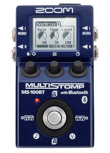 【エフェクター】ZOOM MULTI STOMP MS-100BT with Bluetooth 【11月23日入荷予定】 【新製品AMP...