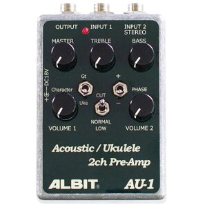 【プリアンプ】★今なら当店内全商品ポイント5倍です!ALBIT AU-1 [Acoustic/Ukulele 2ch PRE-AMP]