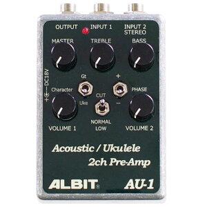�ڥץꥢ��סۡ�ʤ���Ź�������ʥݥ����5�ܤǤ���ALBIT AU-1 [Acoustic/Ukulele 2ch PRE-AMP]