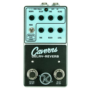 Keeley Electronics Caverns Delay Reverb 便利な2 in 1ペダルにこだわりの音質と機能をつめこんで