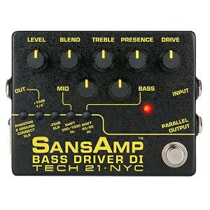 Tech 21 SANS AMP BASSDRIVER DI V2ベースプリアンプのド定番ペダルが22年ぶりリニューアル。