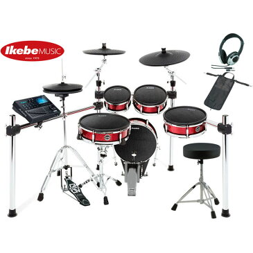 ALESIS Strike Kit [Eight-Piece Professional Electronic Drum Kit with Mesh Heads] 【ドラムペダル&ハイハット・スタンド&イス&ヘッドフォン&スティック・バッグ:プレゼント!】 【台数限定お買い得セット】 【ikbp5】