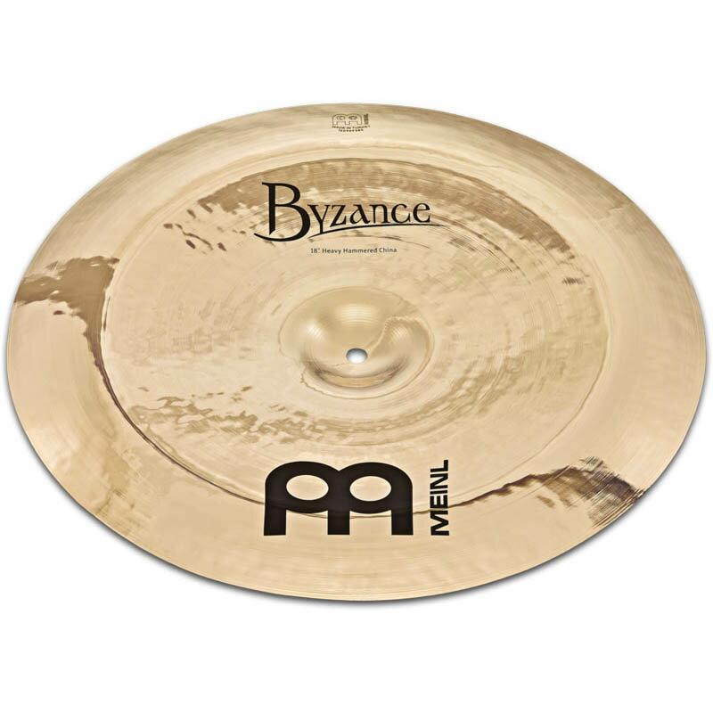 ドラム, クラッシュシンバル MEINL B18HHCH-B Byzance Brilliant Series Heavy Hammered China 18